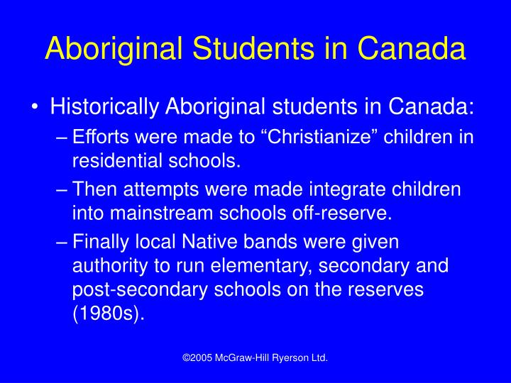 Aboriginal Students in Canada