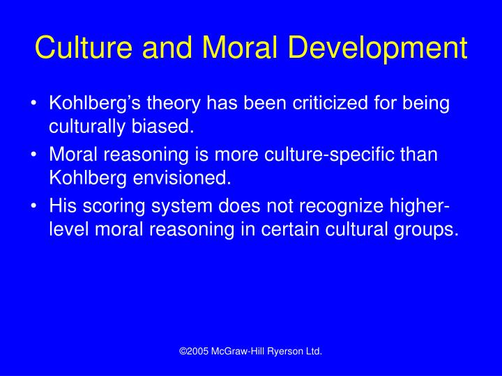 Culture and Moral Development