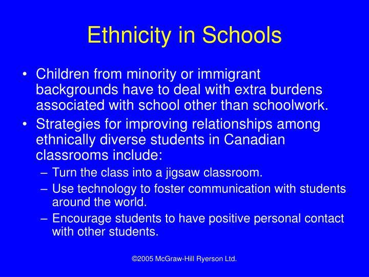 Ethnicity in Schools