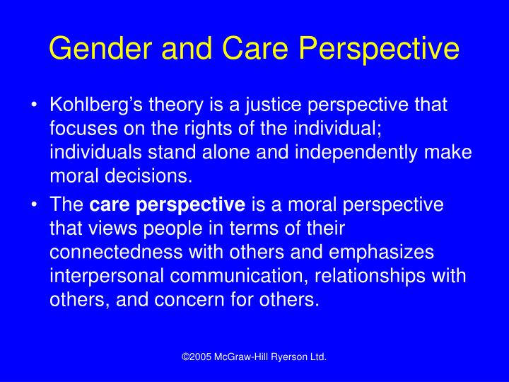 Gender and Care Perspective