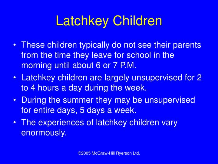 Latchkey Children