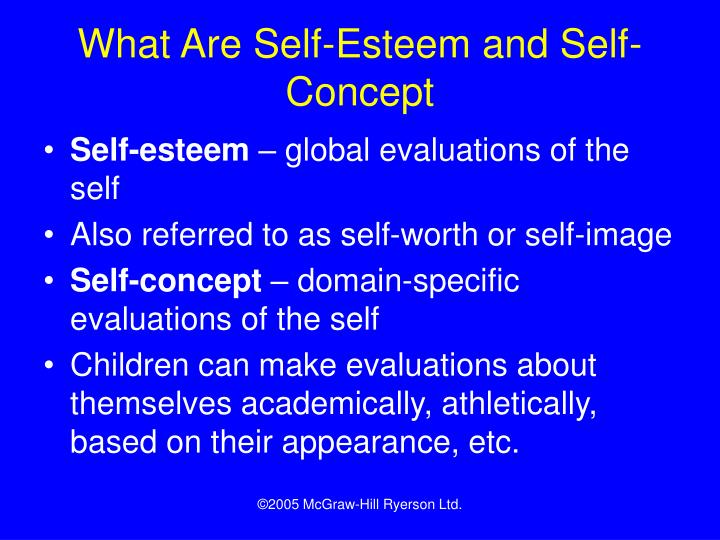 What Are Self-Esteem and Self-Concept