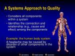 a systems approach to quality