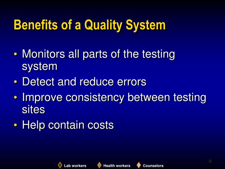 Benefits of a Quality System