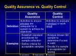 quality assurance vs quality control