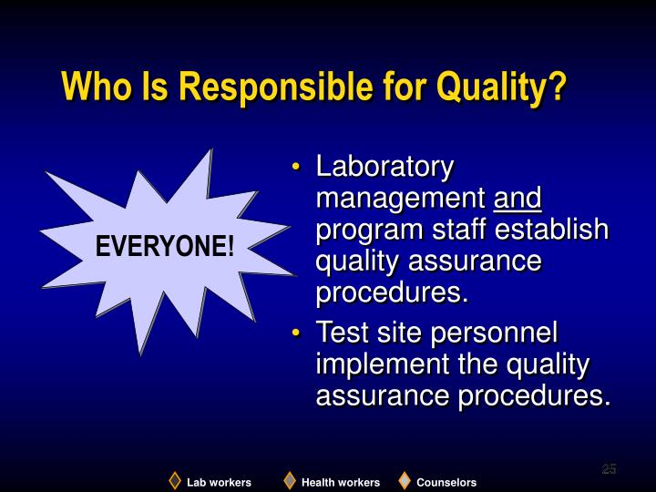 Who Is Responsible for Quality?