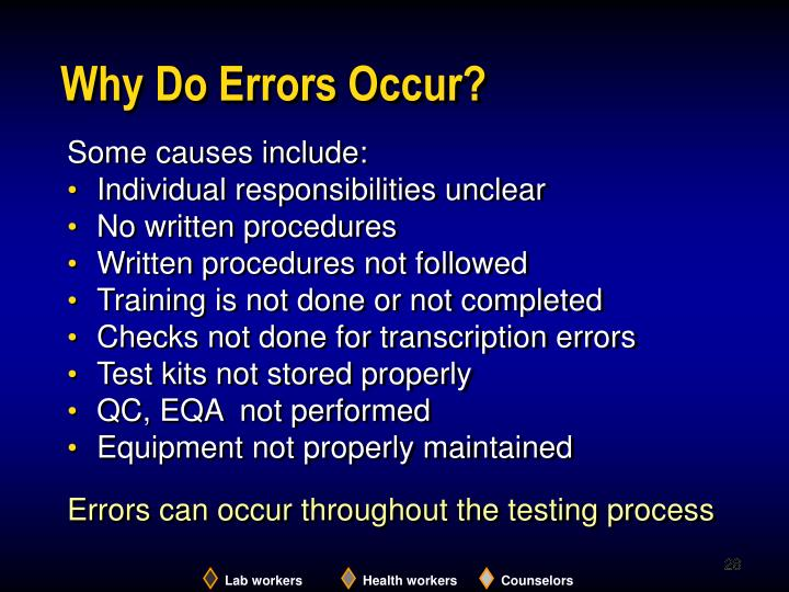 Why Do Errors Occur?