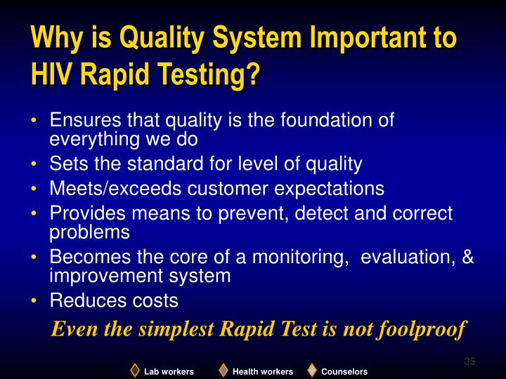 Why is Quality System Important to