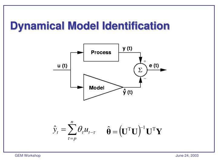 Dynamical Model Identification