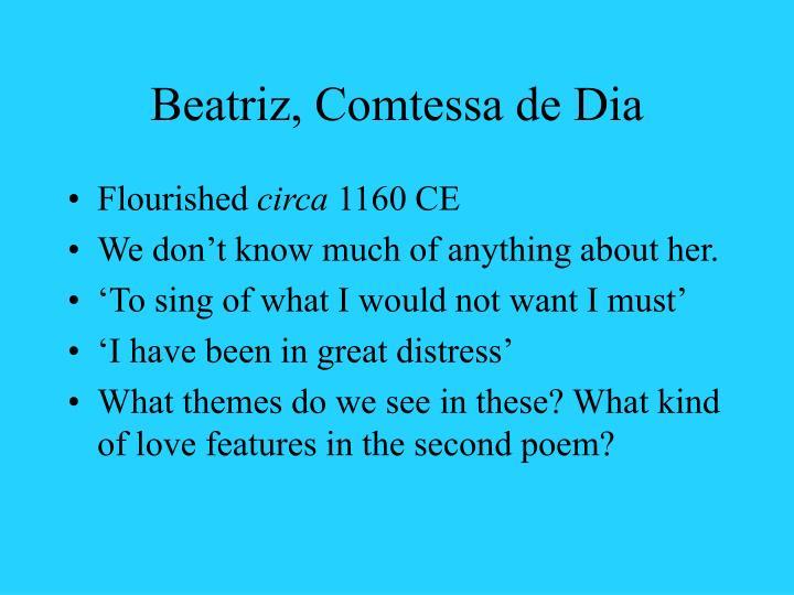 Beatriz, Comtessa de Dia