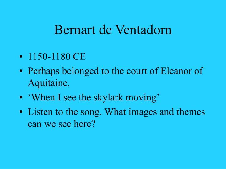 Bernart de Ventadorn
