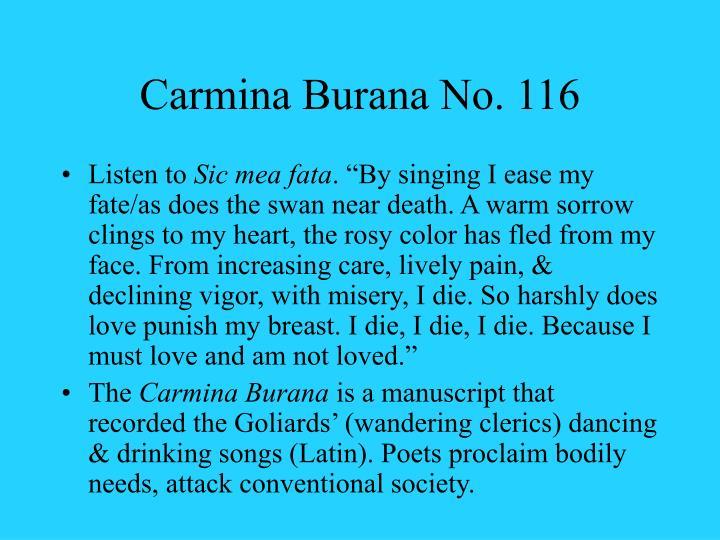 Carmina Burana No. 116
