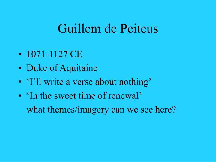 Guillem de Peiteus