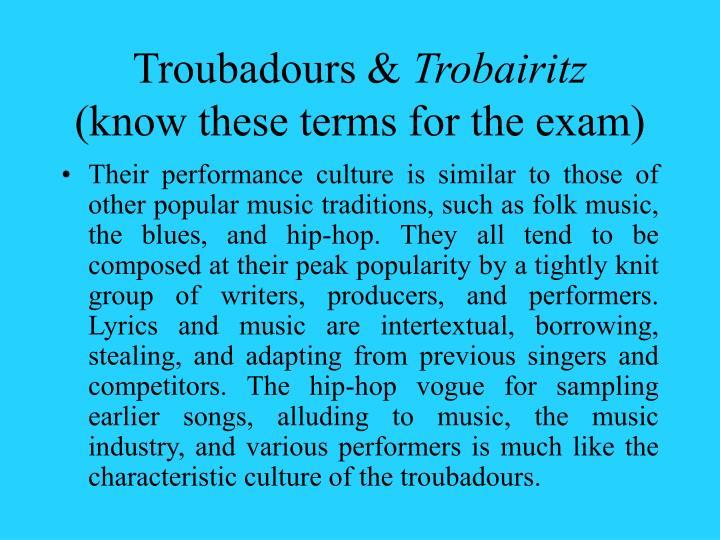 Troubadours &