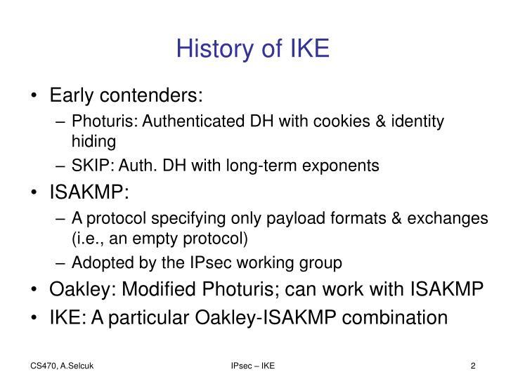 History of IKE