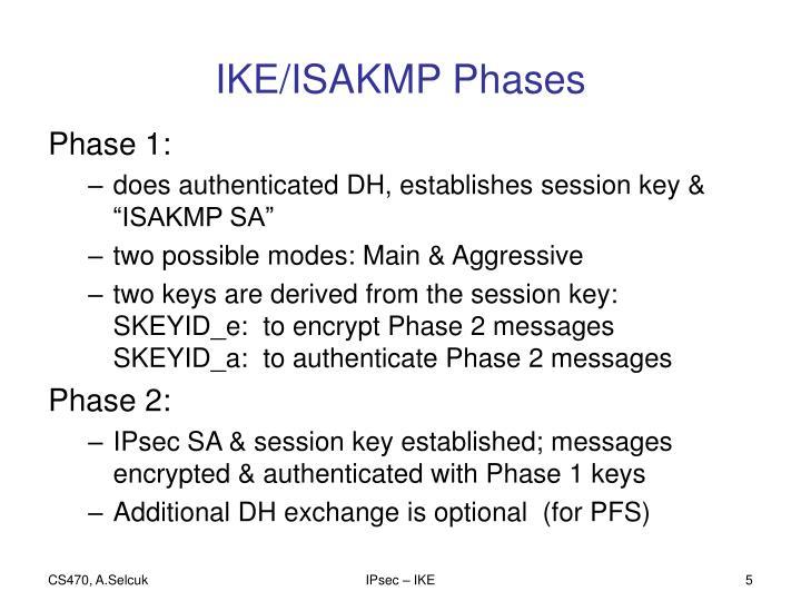 IKE/ISAKMP Phases