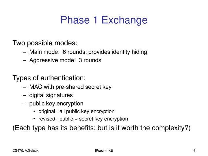 Phase 1 Exchange