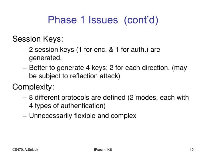 Phase 1 Issues  (cont'd)