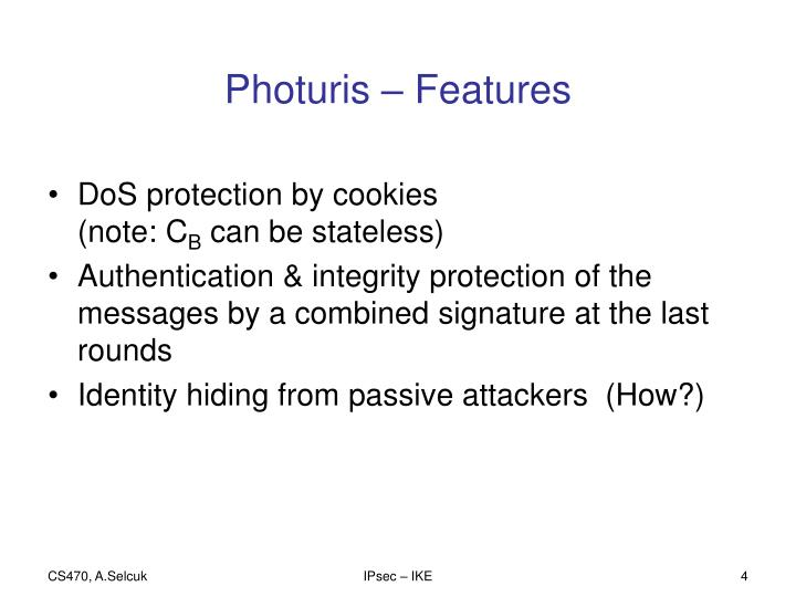 Photuris – Features
