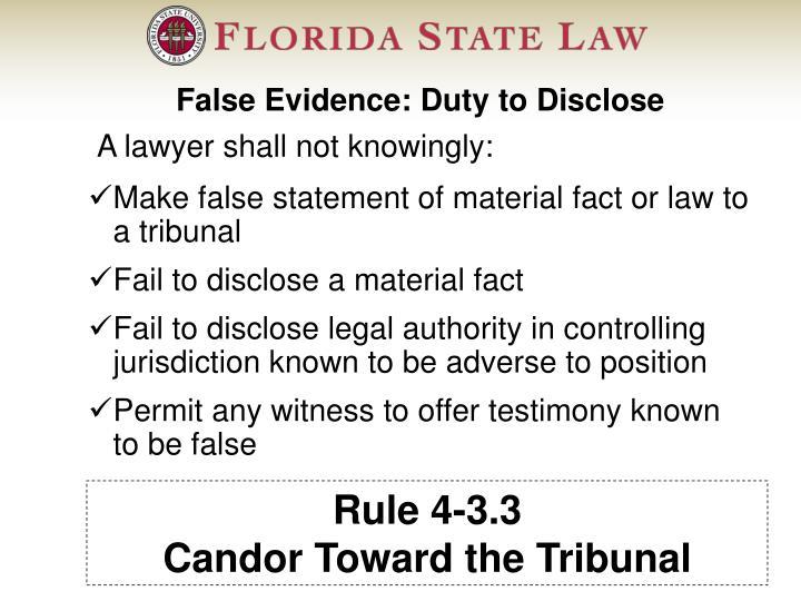 Rule 4-3.3