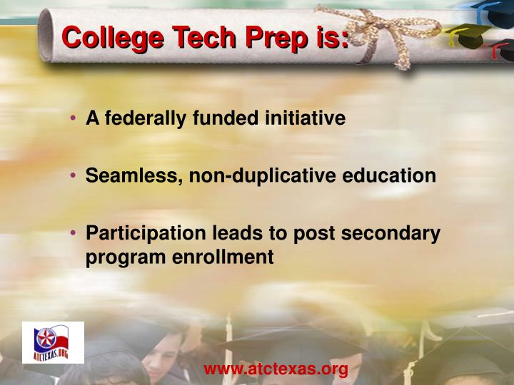 College Tech Prep is: