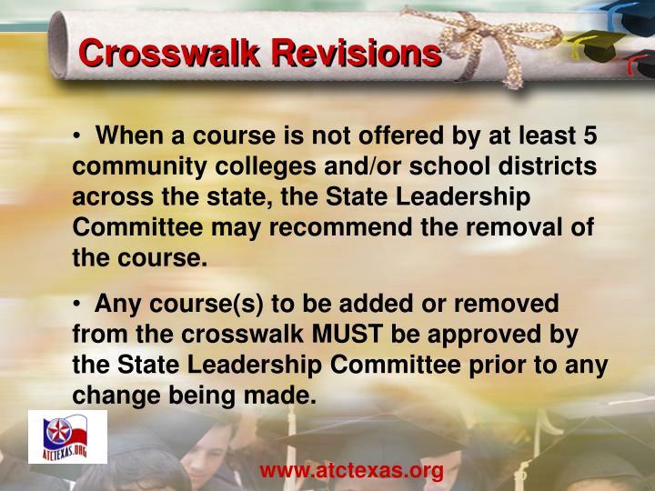 Crosswalk Revisions