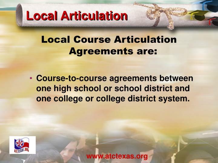 Local Articulation