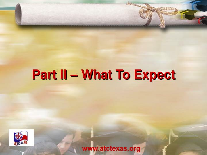 Part II – What To Expect