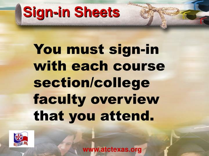 Sign-in Sheets