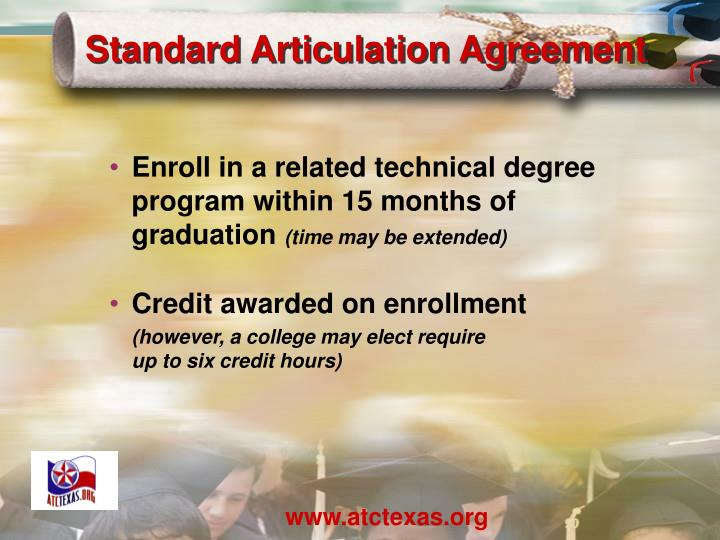 Standard Articulation Agreement