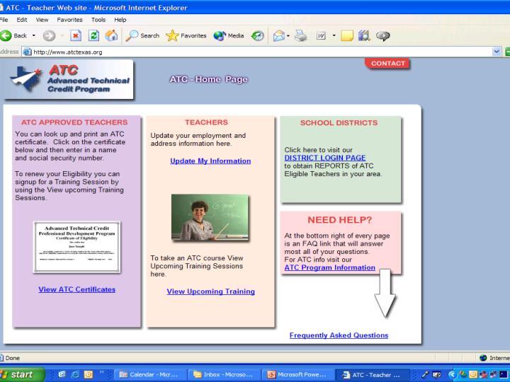 Teacher Update/Certificate Page