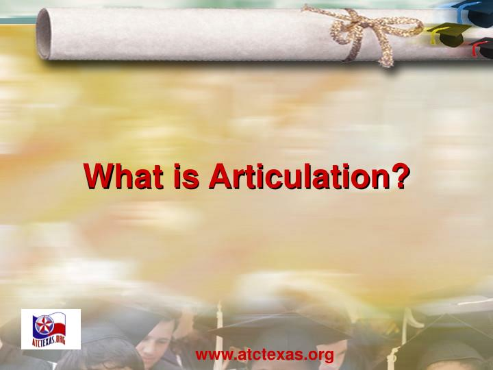 What is Articulation?