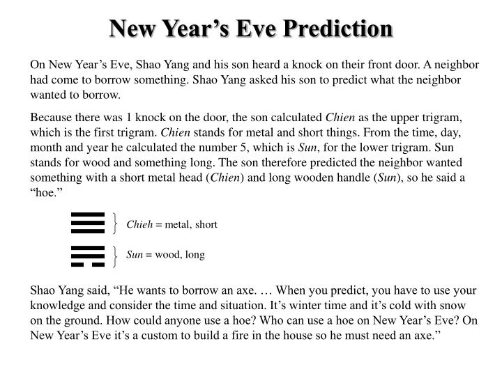 New Year's Eve Prediction