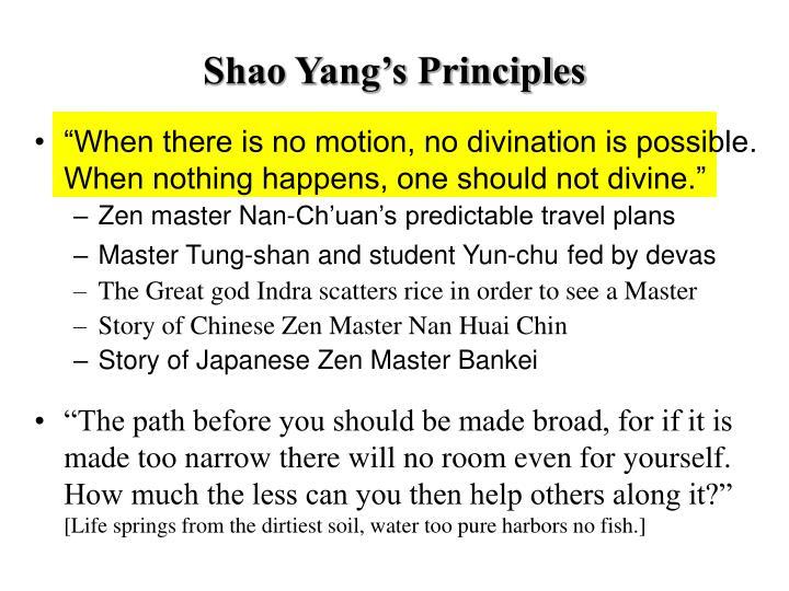 Shao Yang's Principles