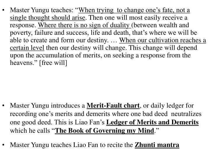 Master Yungu teaches: ""