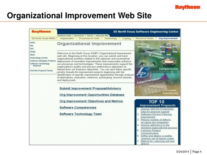 Organizational Improvement Web Site