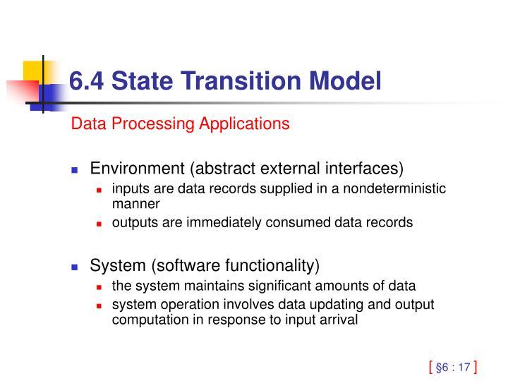 6.4 State Transition Model