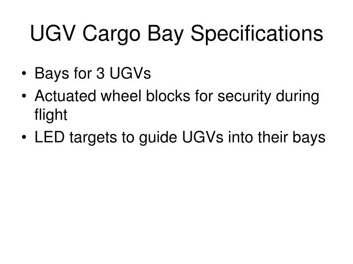 UGV Cargo Bay Specifications