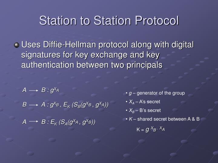 Station to Station Protocol