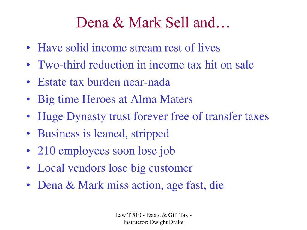 Dena & Mark Sell and…
