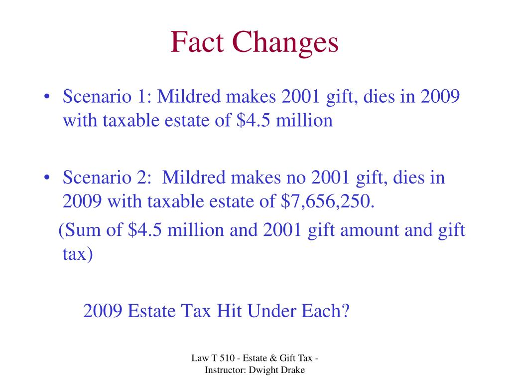 Fact Changes