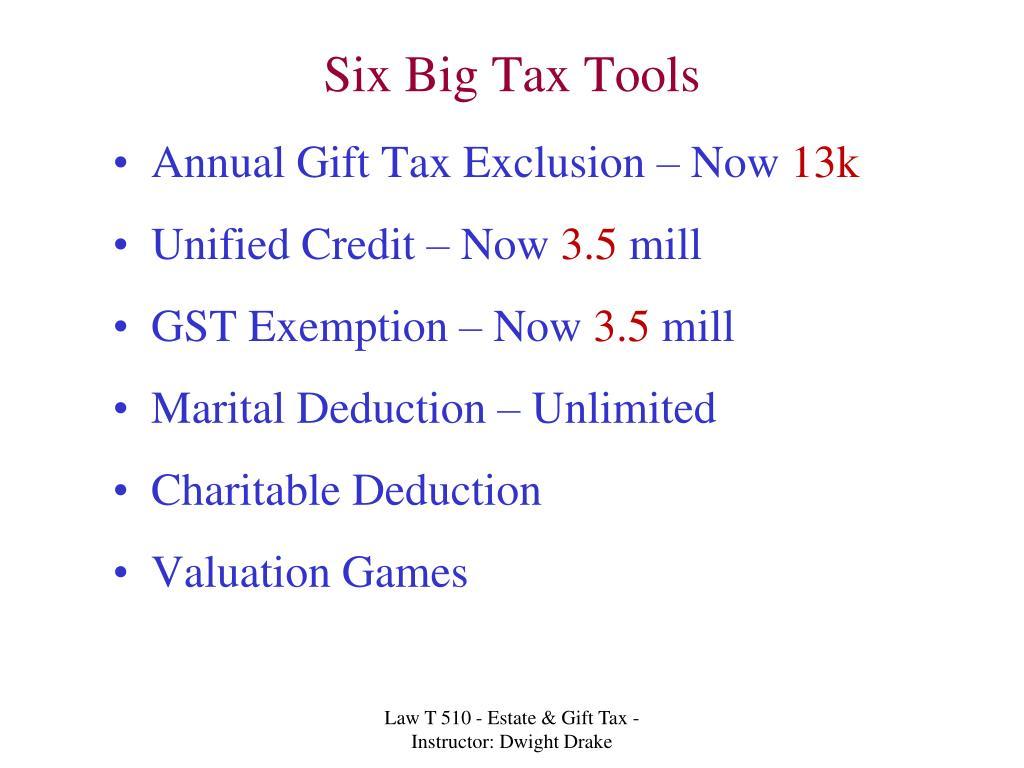 Six Big Tax Tools