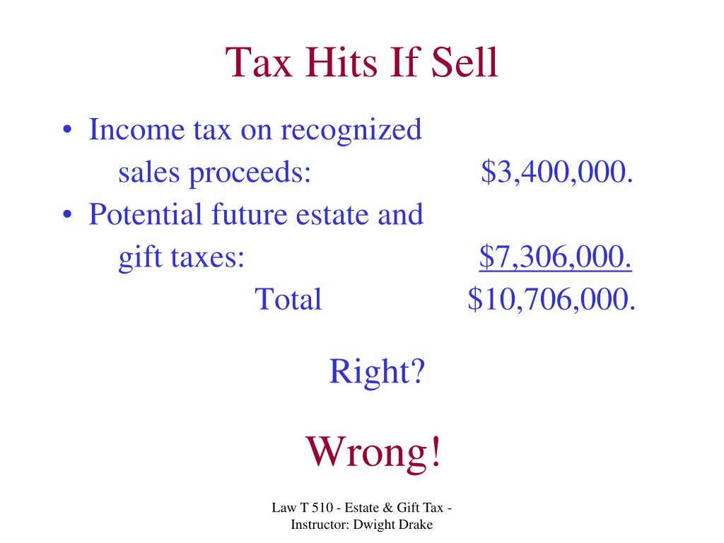 Tax Hits If Sell
