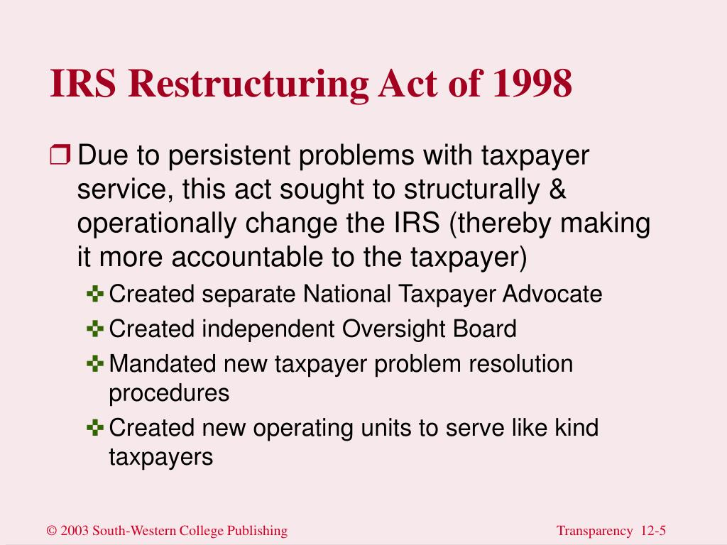 IRS Restructuring Act of 1998