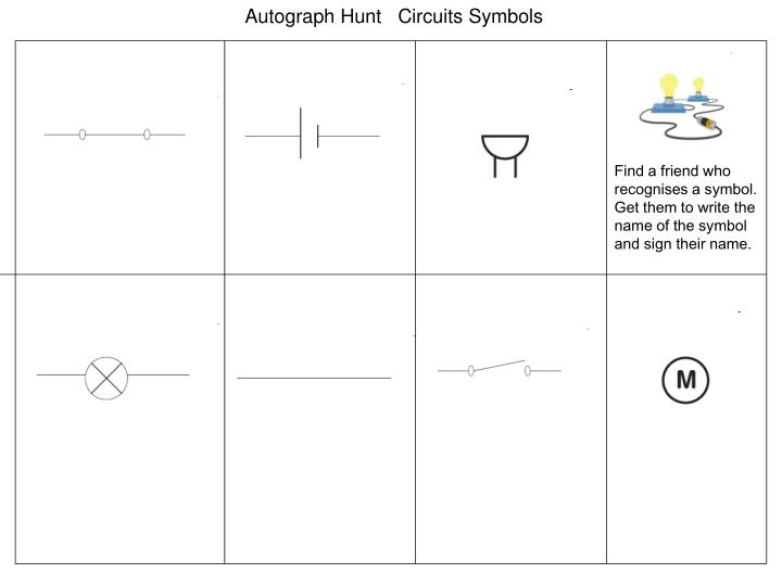 Autograph Hunt   Circuits Symbols