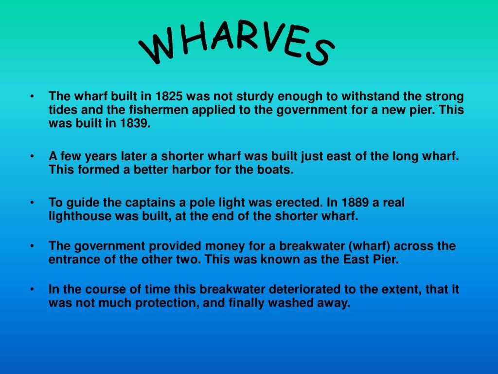 WHARVES