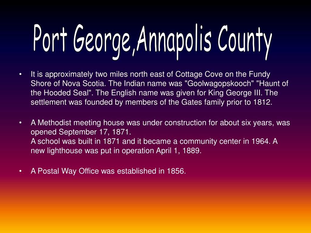 Port George,Annapolis County