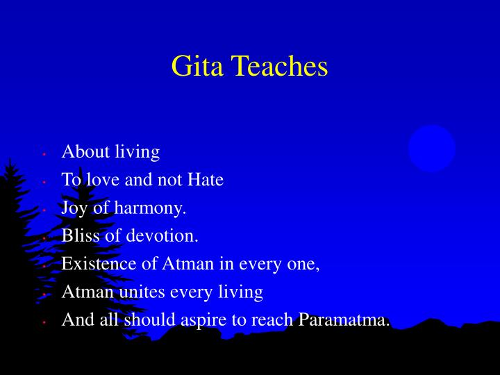 Gita Teaches