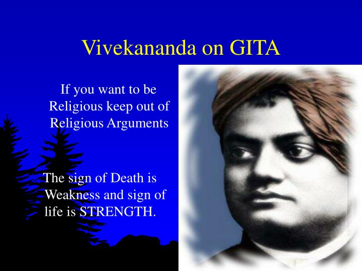 Vivekananda on GITA