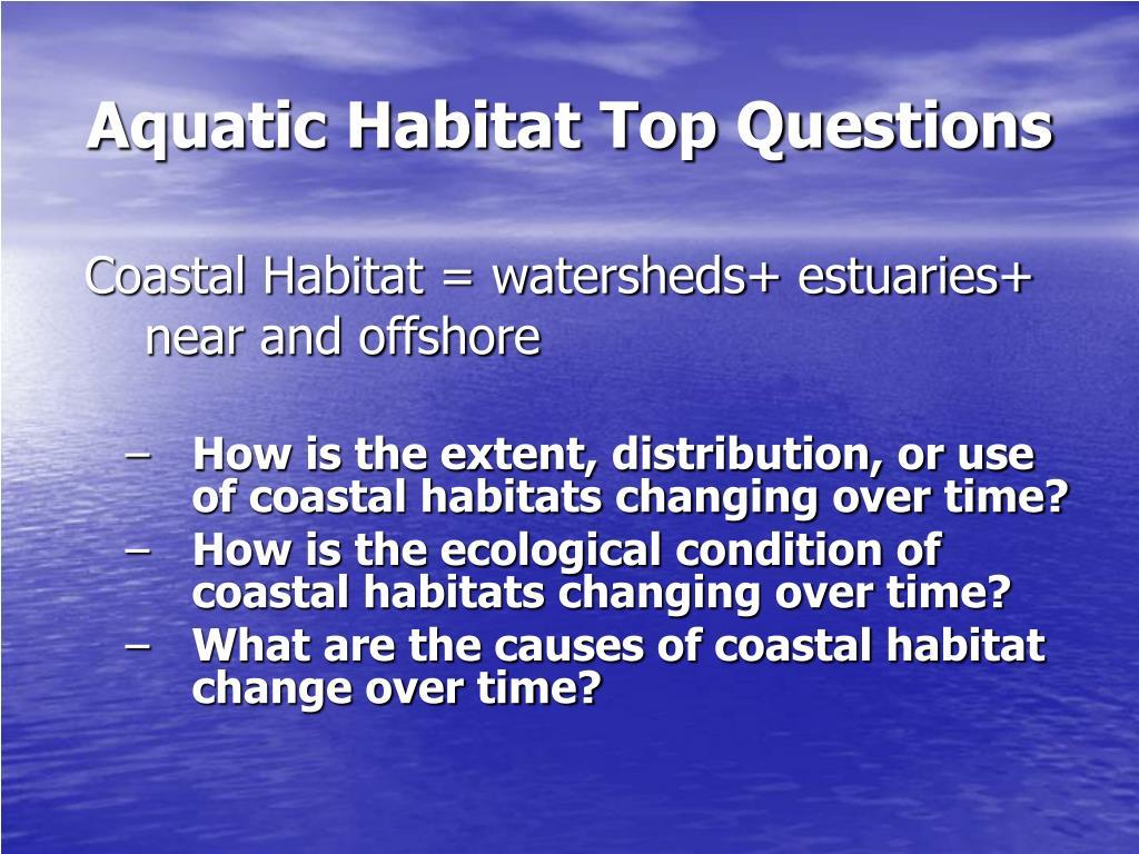 Aquatic Habitat Top Questions